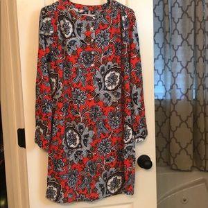 Loft Long Sleeved Shift dress size Small